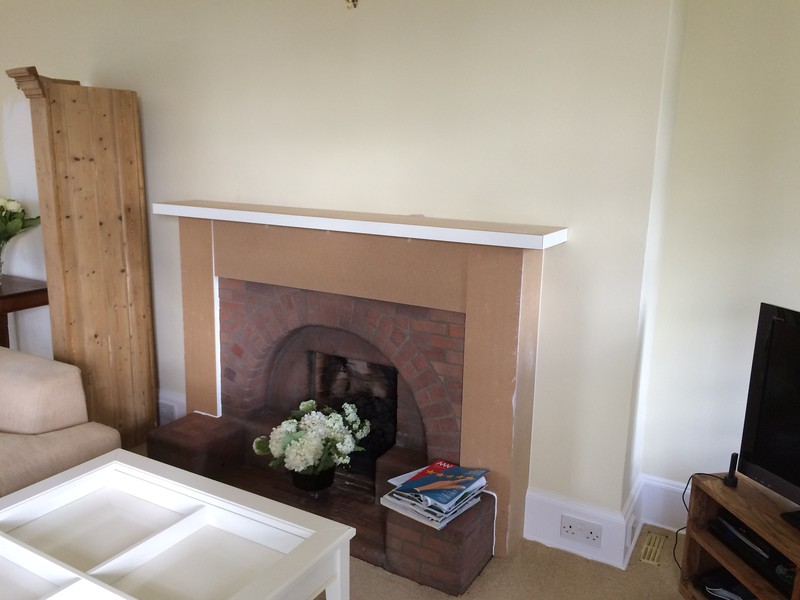 Old fire place given a face lift.