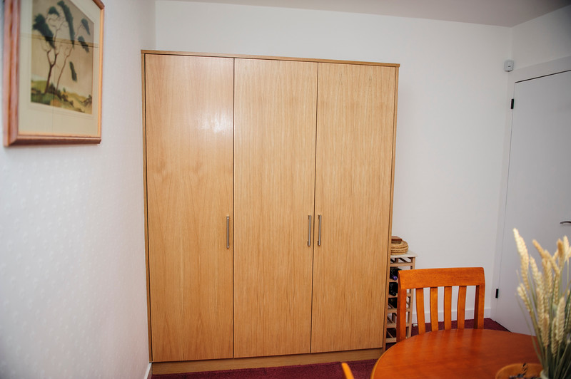 MDF Oak veneered storage units