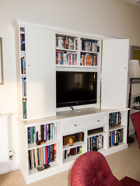 Finished Tv and bookcase unit