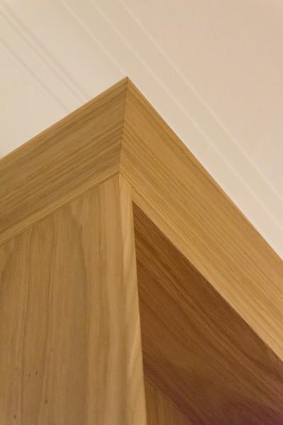 Narrow Oak veneered MDF bookcase with adjustable shelves