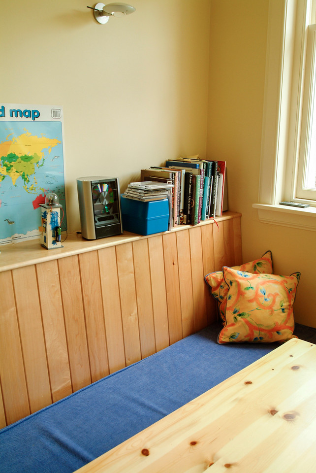 Birch bench seating with storage