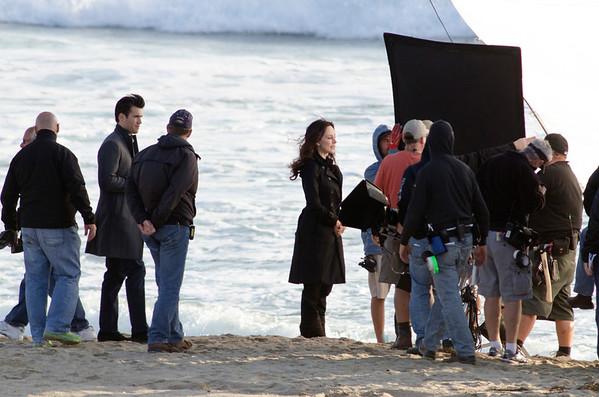 Madeleine Stowe and Josh Bowman seen in Playa del Rey