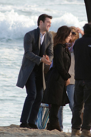 Madeleine Stowe and Josh Bowman seen in Playa del Rey