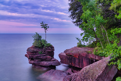 Dawn at Big Bay State Park, Madeline Island State Park, Wisconsin