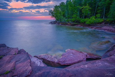 Sunrise at Big Bay State Park, Madeline Island, Wisconsin