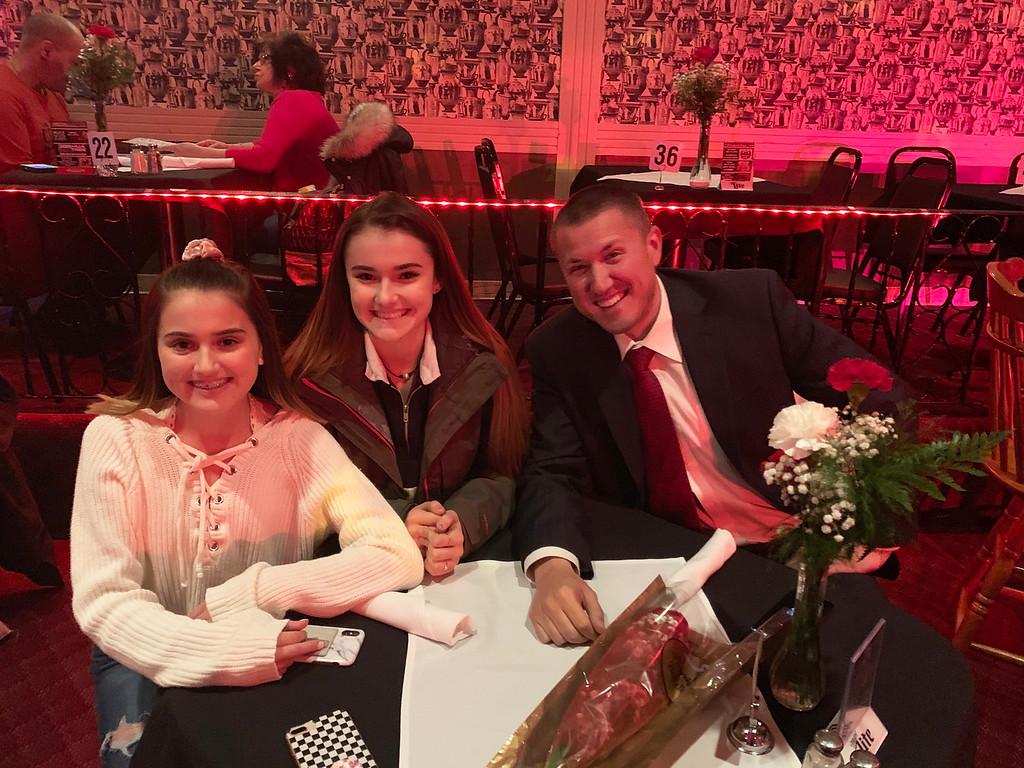 . From left, Maiya, Lisette and Dan Beauchemin of Hudson