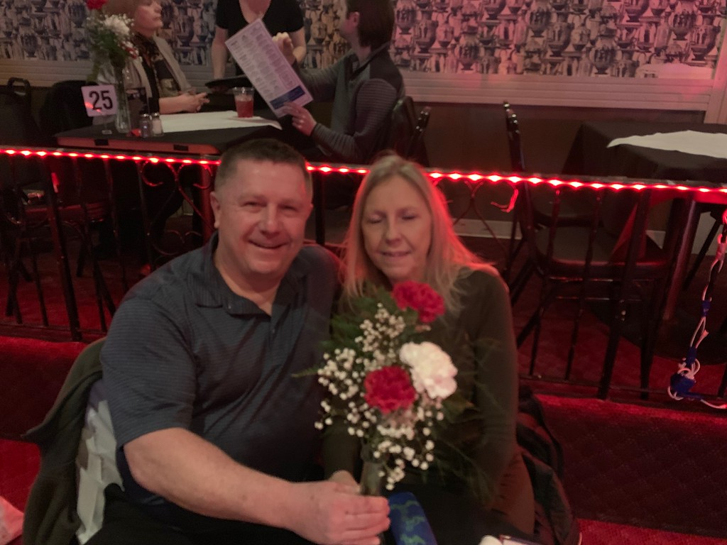 . Lowell police Officer Scott Fuller and wife Patty of Lowell