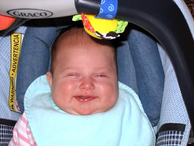 baby smiles. doesn't get much better.