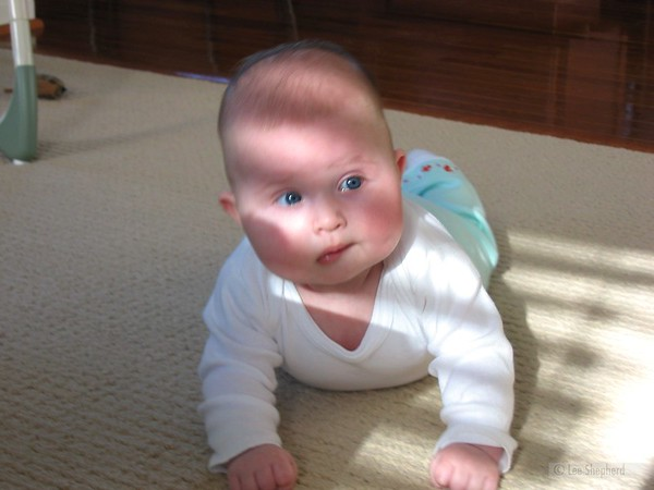 """I titled this one """"infant contemplating diaper dishonor"""""""