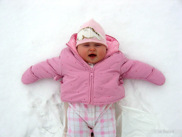 so refreshing, catching snowflakes.