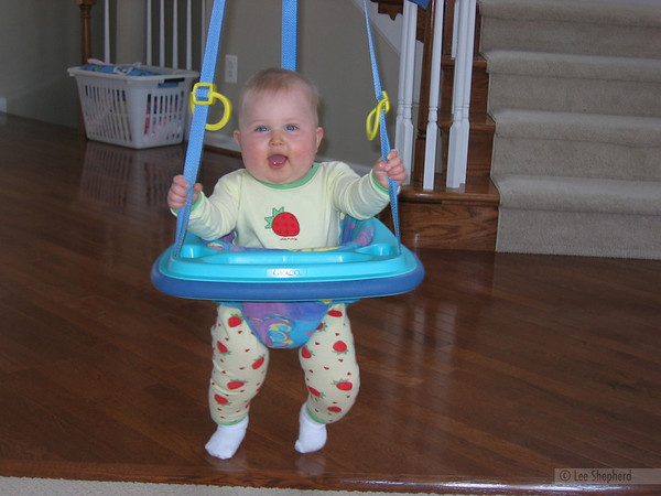 Ladies and gentlemen, i will now attempt the world record bouncy seat...um...bounce.