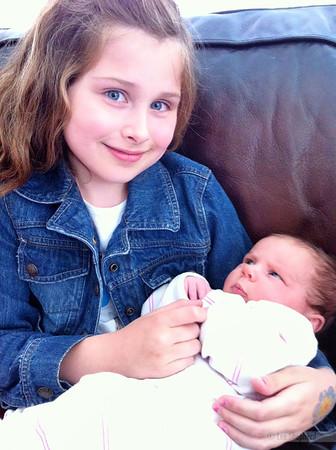 Holding baby Ellie