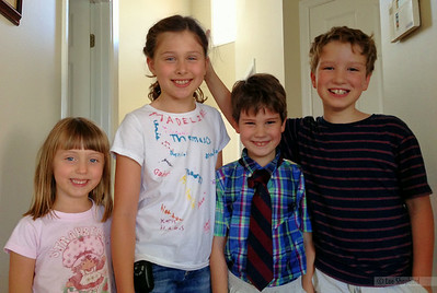 Lizzie, Madeline, Thomas and Gabriel