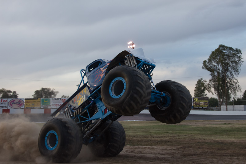 Monster trucks, Madera speedway.  May 2016