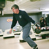 (Saturday February 15th 2014 - Astro Lanes - Madison - Heights, MI) Mike Asher of the Madison Heights FIre Department bowls on his lane during the bowling event between the Madison Heights Police and Fire Departments Saturday. Photo by: Brian B. Sevald