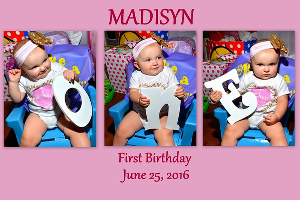 Madisyn First Birthday June 25, 2016