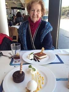Comida rica con tía Leo, con vistas a Riazor.
