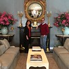 Sara Bogosian and Ambassador James Costos in the main receiving room in the private residence