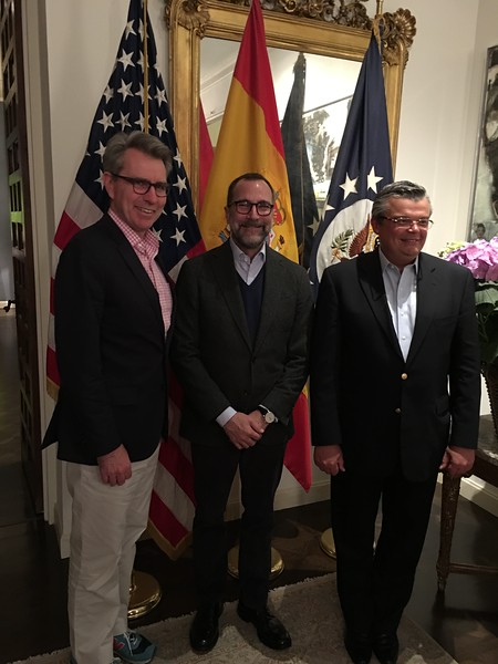 Geoffry R. Pyatt, U.S. Ambassador to the Ukraine; James Costos, U. S. Ambassdor to Spain and Andorro