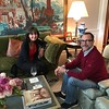 Sara Bogosian and Ambassador James Costos in the dining room suite