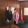 Sara Bogosian with Director Miguel Zugaza Miranda of the Museo Nacional Del Prado