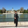 Sara Bogosian in Retiro Park, Madrid, Spain