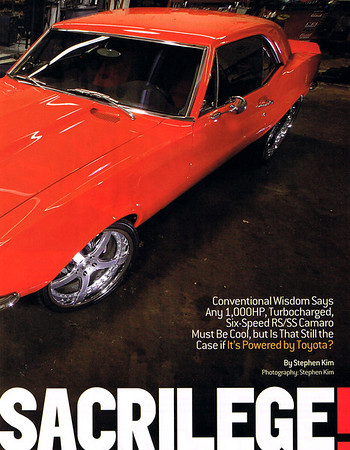 Culture Shock Camaro Hot Rod Magazine Article