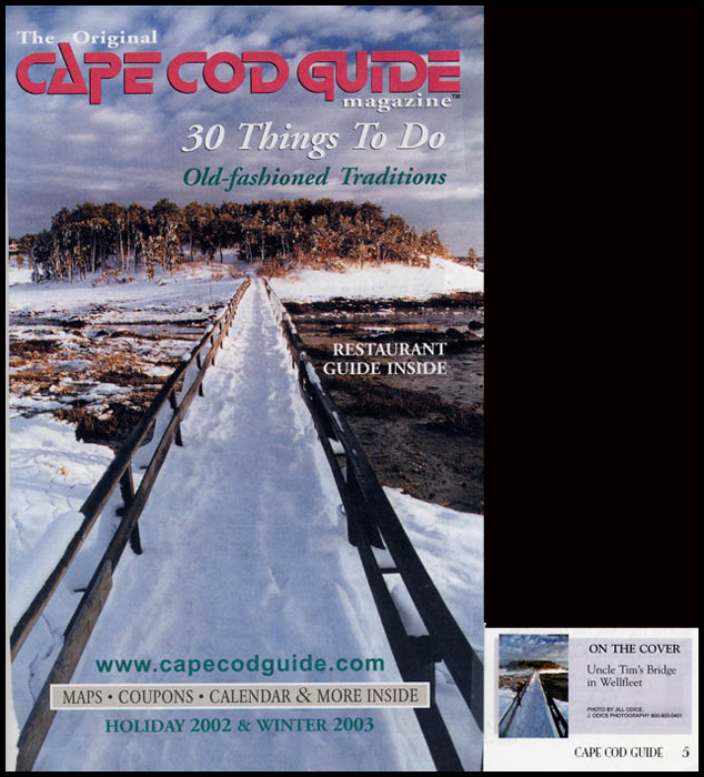 Cape Cod Guide Cover<br /> Holiday 2002/Winter 2003 Issue