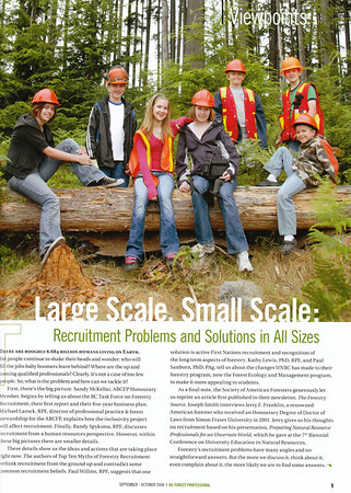BC Forest Professional Magazine Client: Association of BC Forest Professionals