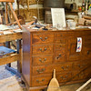 A chest from the Bob Timberlake line of furniture looks right at home in Fred Craver's workshop.