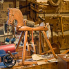 A toy rocking horse sits the in the replica of Fred Craver's workshop.