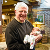 Bob with the world's cutest baby. (Don't use this one in the layout. The highlights are blown.)
