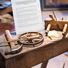 Tools in the replica of Fred Craver's workshop at the Lexington Gallery.