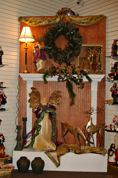 Angel motif decorations using teal and purple