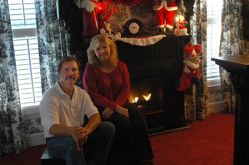Decorator Kim Norwood of Kim's Curtains and Interiors and her partner, upholsterer Bruce Smith.