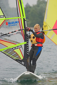 blind people windsurfing, Brigitte