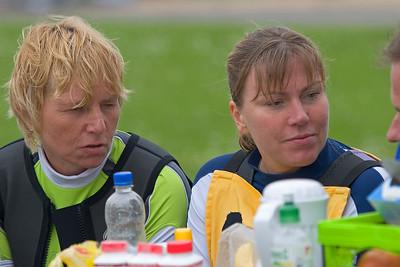 blind people windsurfing, Dagmar and Brigitte