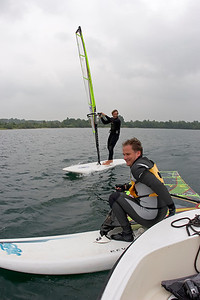 blind people windsurfing, christian and me