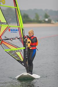 blind people windsurfing, Brigitte