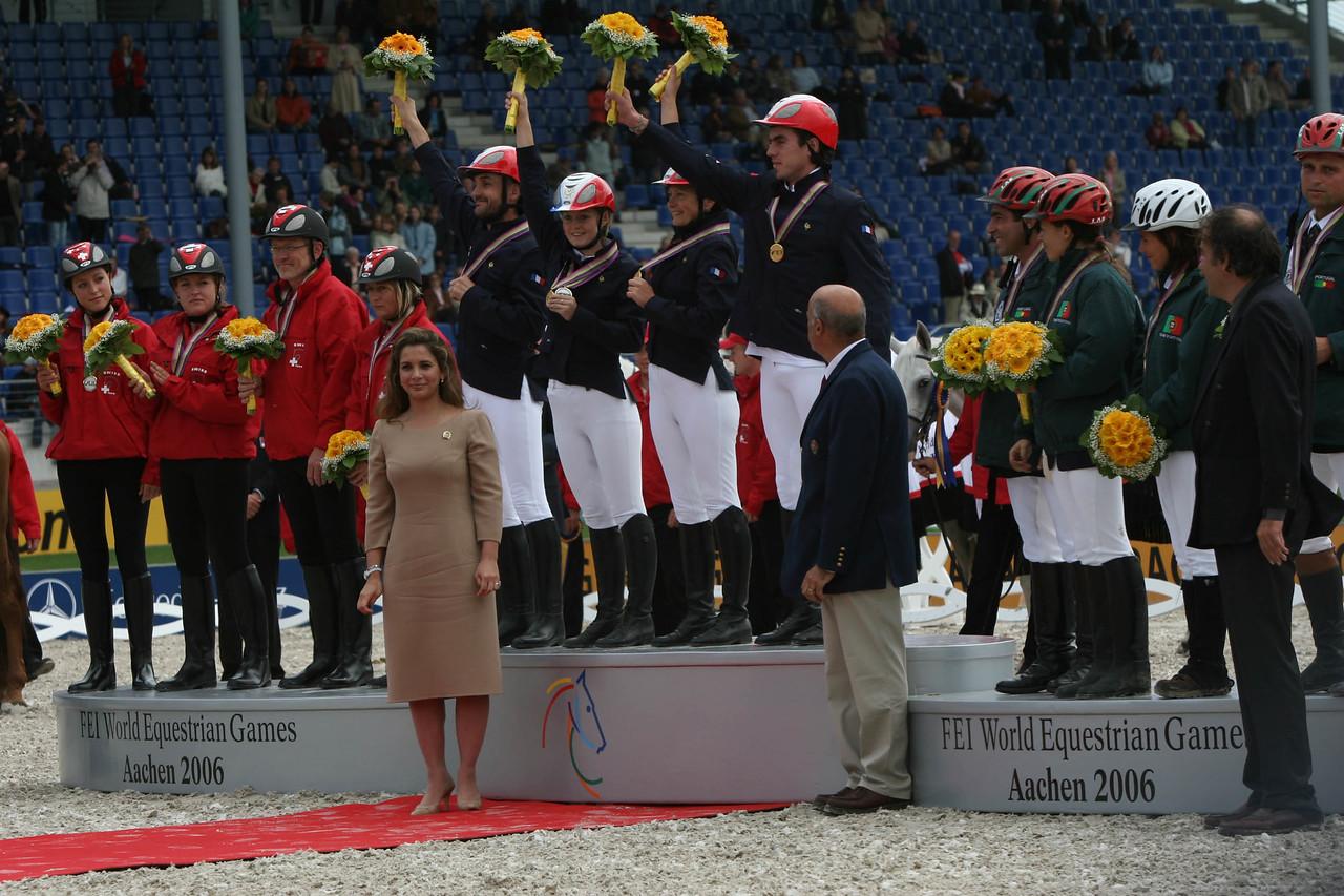 #10-French Team wins Gold- Princess Haya, Jean-Louis Leclerc