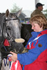 #69- USEF Dir of End. Jamie Saults, gives Harley some food at 5th <br /> Vet Gate