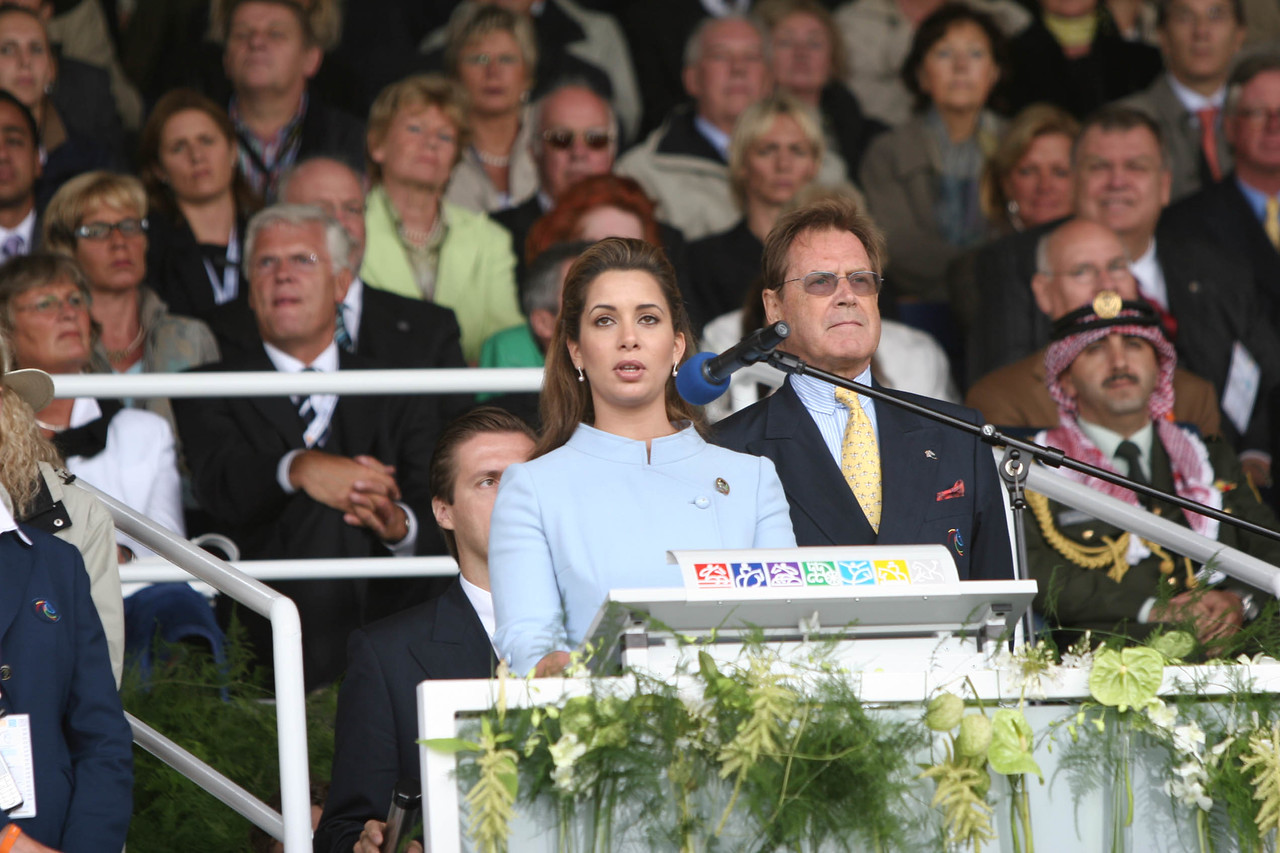 #72-Princess Haya, President of the FEI, gives the opening address