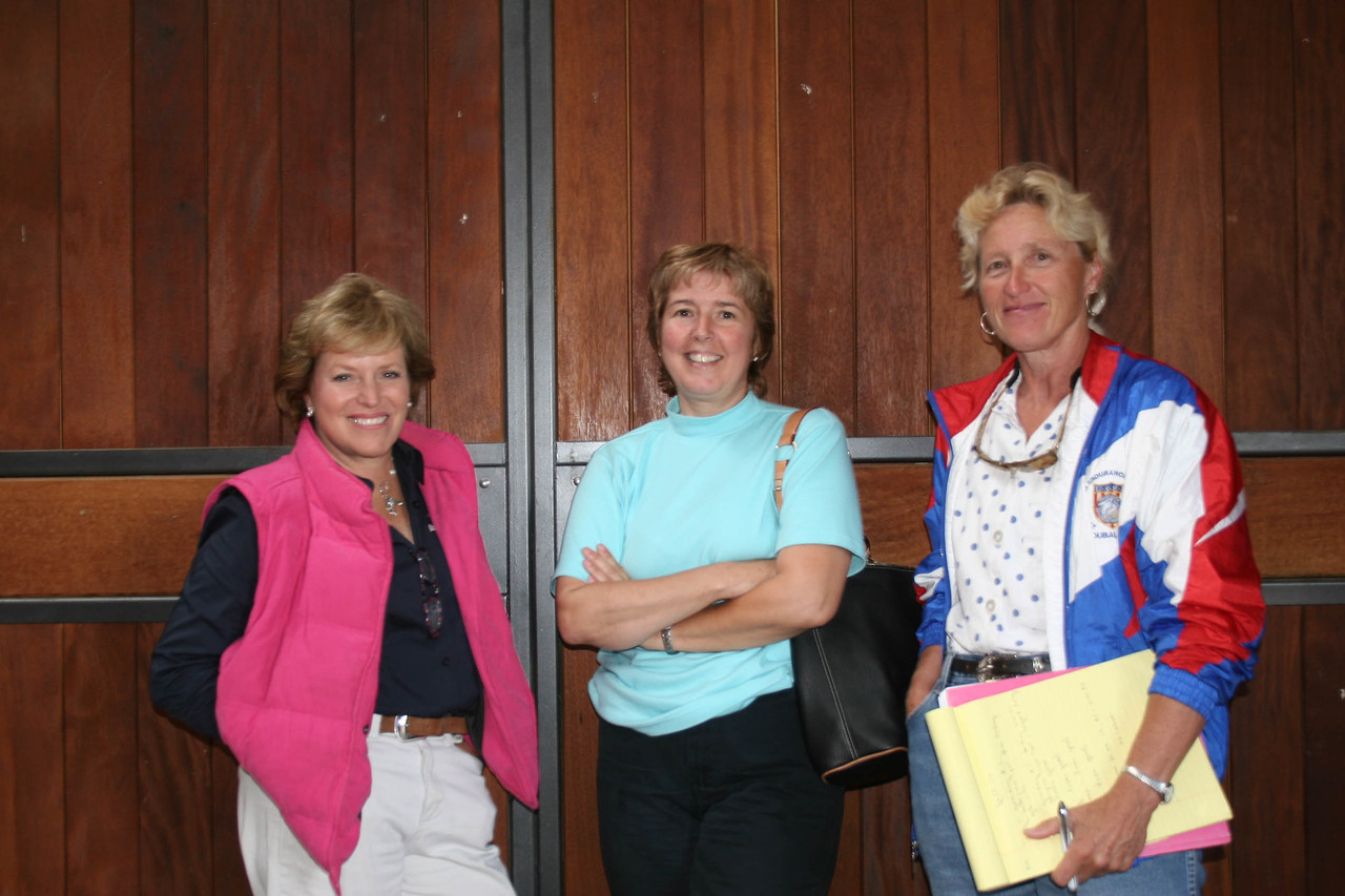 #84-Chef d'equipe, Valerie Kanavy, USEF Dir of End, Jamie Saults, Asst Chef d.e., Suzanne Hayes