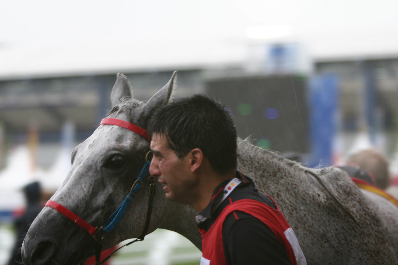 #18- Miguel Ubach's groom is choked with emotion at his win