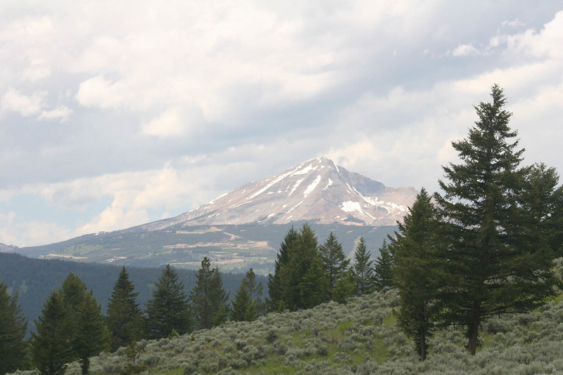 Lone Mountain from the Gallatin National Forest