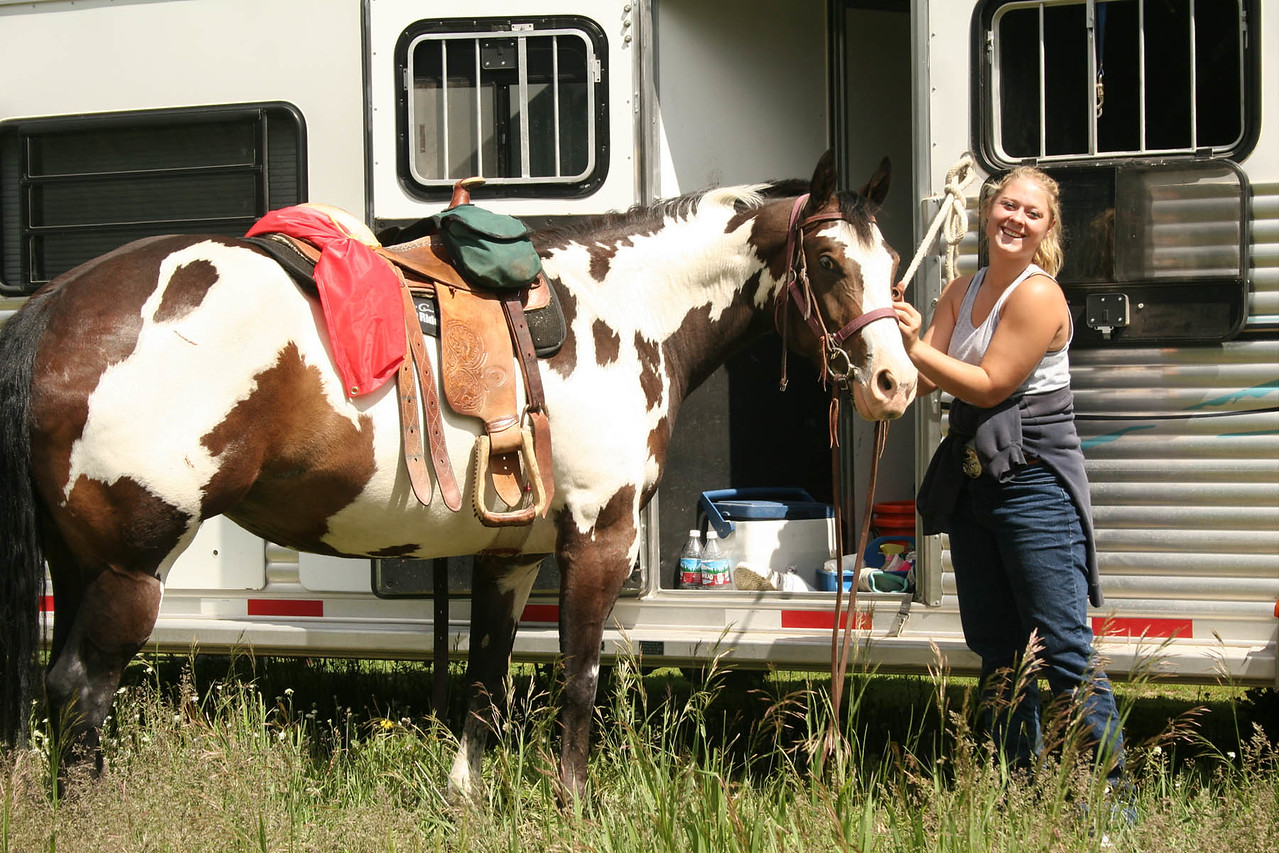 grooming at the trailer