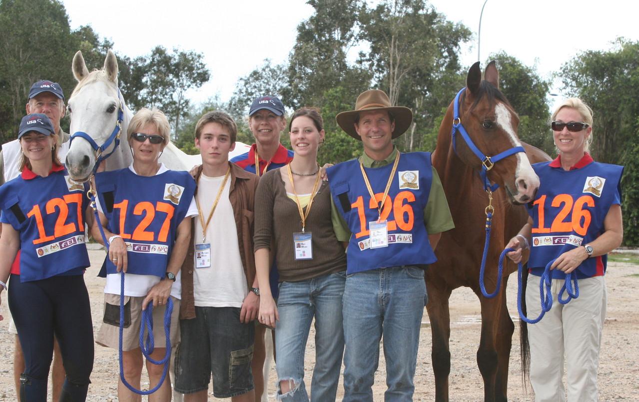18.Meg Sleeper (left) and John Crandell and crew