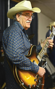 Lonnie Atkinson plays his guitar with the band, Bert Rivera and the Ramblers. The band provided entertainment before the start of the 2015 Annual Meeting in Giddings, Tx.