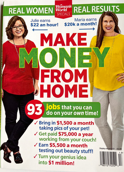 """Jillian Cain is featured for her photography in """"Make Money From Home""""  Special Edition  June 2021 - September 2021.  Make Money from Home can be purchased at your local grocery store and Amazon Books."""