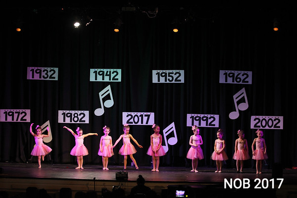 The Follies of 2017, Dancing Through the Decades, showcased ballet with the 4 and 5 year olds combination class.. It was the 85th anniversary show at the Mitchell School of Dance in Beverly.